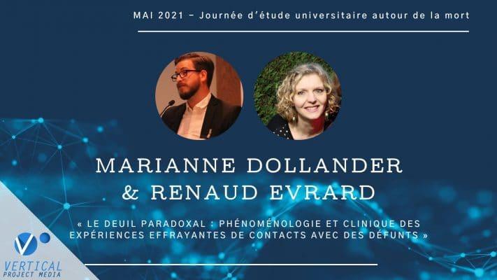 Renaud Evrard et Marianne Dollander : phénoménologie et clinique des expériences effrayantes de contacts avec des défunts – Vimeo thumbnail
